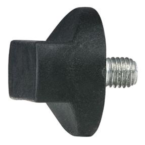 WENTEX® Rotary knob M10x12 (gordijnsteun) zwart