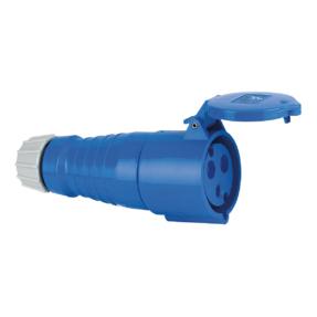 ABL CEE Form 32A 3 Pin Socket Female 6H blauwe behuizing