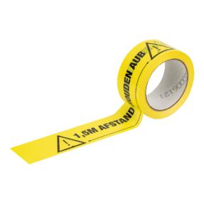 1,5 meter afstand houden aub markering tape - Nederlandse tekst