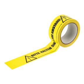 1,5 meter afstand houden aub markering tape - Duitse tekst
