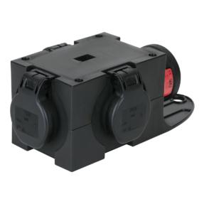 PCE Powersplit 5 krachtstroomverdeler CEE 16A naar 3x Schuko