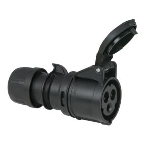 Showtec CEE 16A 240V 3p Plug Female Zwart, IP44