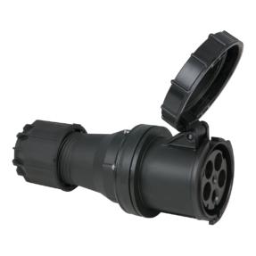 PCE CEE Contrastekker female 5-polig - 125A 400V IP67 zwart
