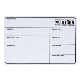 DMT flightcase label zelfklevend 113x170mm
