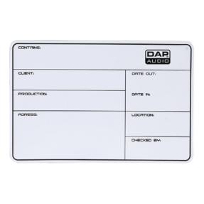 DAP flightcase label zelfklevend 113x170mm