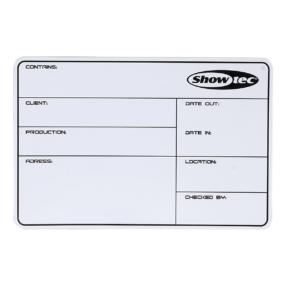 Showtec flightcase label zelfklevend 113x170mm