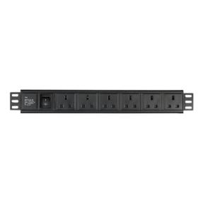 "DAP 19"" 6 way socketbox BS-613 (VK) aansluiting, 1,5 U"