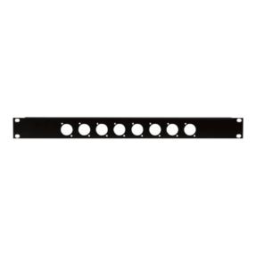 DAP 19 inch Connector-panel 1U, voor 8 XLR-aansluitingen (D-formaten)