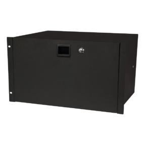 DAP 19 Inch Drawer with keylock 6U (483 x 350 x 267 mm, LxBxH) / 10,5 kg