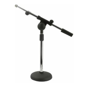 DAP Desk Mic. Stand Chroom, 1,5 kg, + instelbaar Microfoonarm