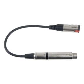 DAP FLA03 - Jack F. (50 kilo-Ohm) > XLR F. (600 Ohm) Met impedantie-aanpassing en aan-uitschakelaar