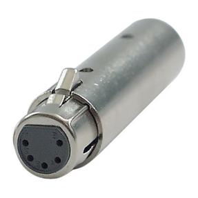 DAP FLA30 - 3p. - 5p. XLR Adapter 3p. XLR mannelijk > 5-p. XLR vrouwelijk - DMX-adapter