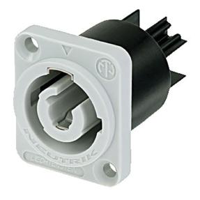 Neutrik NAC3MPB1 powerCON Chassis output connector 20A grijs