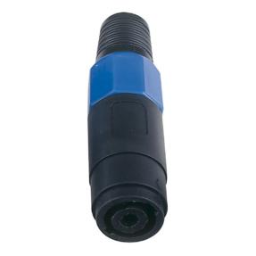 DAP 4p. Speaker Connector Female Blauwe einddop, vrouwelijk