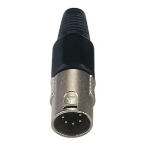 DAP XLR 5p. Connector Male Zwarte einddop