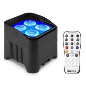 BeamZ BBP94W accu LED PAR 4x 12W RGBAW-UV en draadloze DMX