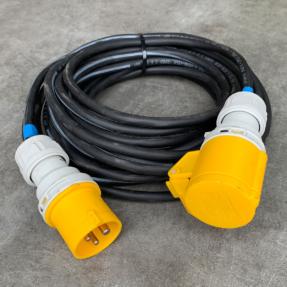 Tweedehands Draka 3x 1,5 mm2 Neopreenkabel H07RN-F verlengkabel met CEE 3-pin connectoren - 10m