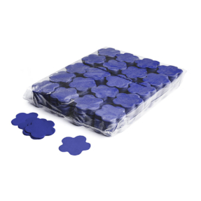 MAGICFX® Slowfall confetti bloemen Ø 55mm - donkerblauw