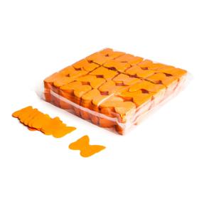 MAGICFX® Slowfall confetti vlinders Ø 55mm - oranje