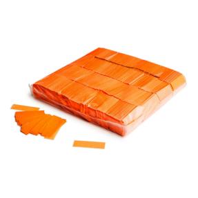 MAGICFX® Slowfall UV confetti 55x17mm - fluoriserend oranje