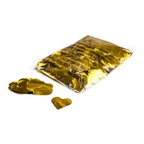 MAGICFX® Metallic confetti harten Ø 55mm - goud metallic