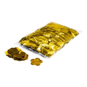 MAGICFX® Metallic confetti bloemen Ø 55mm - goud metallic