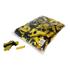 MAGICFX® Metallic confetti 55x17mm - zwart - goud metallic