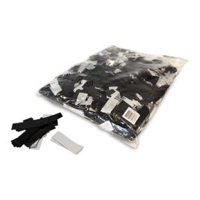 MAGICFX® Metallic confetti 55x17mm - zwart - zilver metallic