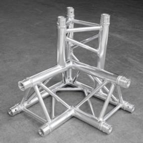 B-stock Milos ALU34 truss driehoek 3-weg hoek links apex down