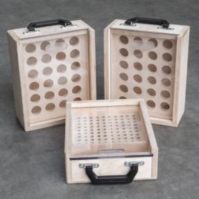 Tweedehands koffer set voor truss slagpinnen en conische koppelingen
