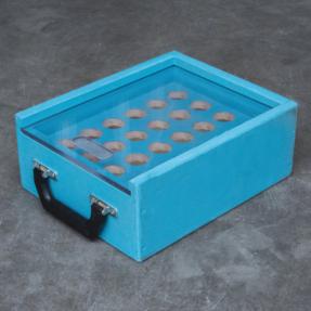 Tweedehands koffer voor conische truss koppelingen 24 stuks
