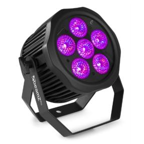 BeamZ Pro WBP612IP Aluminium Accu LED PAR RGBAW-UV IP65